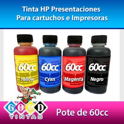 Tintas Hp Vivera Colores Y Negra (por Los 4 De 60 Cc)