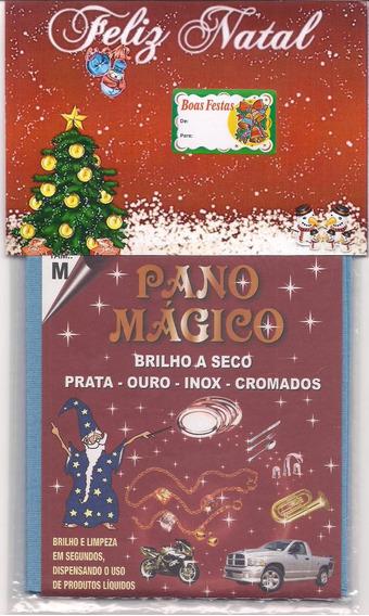 Kit Natal Flanela Pano Mágico 2 Flanelas Md Limpa Ouro Prata