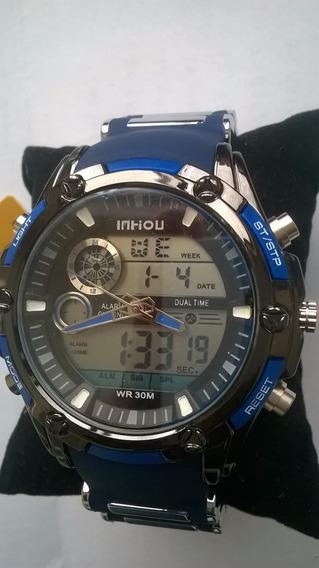 Relógio Importado Em Aço Masculino Prova De Água Promoção