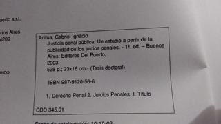 Anitua / La Justicia Penal Pública - Oferta -