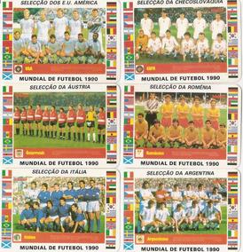 1990 Copa Do Mundo 24 Cards Seleções Edição Portugal Raro