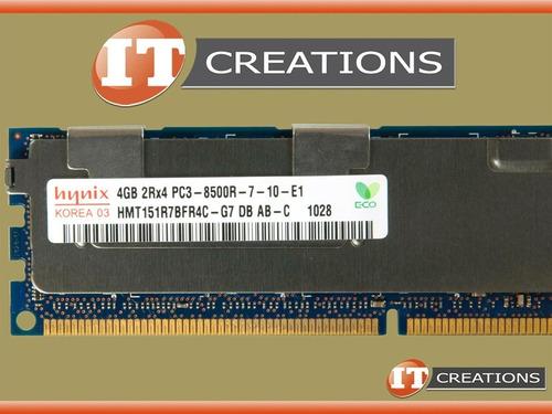 Imagem 1 de 3 de Memoria 16gb 4x 4gb 4rx8 Ddr3-1066mhz Pc3-8500r Hp Ibm Dell