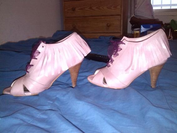 Zapatos Cuero Rosa