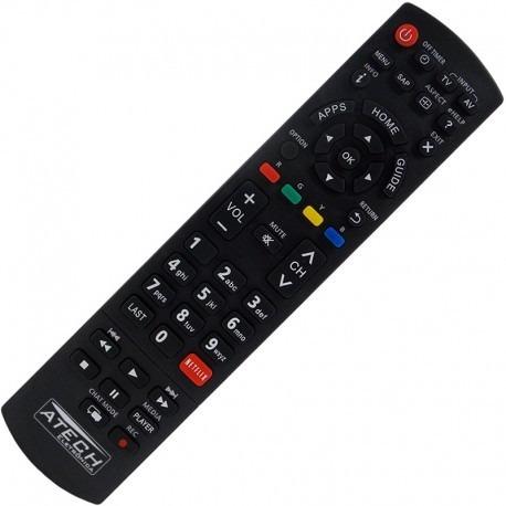 Controle Remoto Tv Lcd Led Panasonic Viera C/ Netflix No Rj