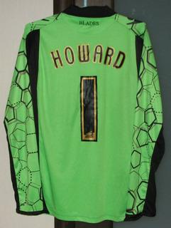 Camisa Sheffield United Inglaterra Macron #1 Mark Howard 11