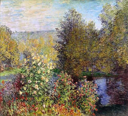 Poster Monet 65x75cm Canto Do Jardim - Para Decorar Casa