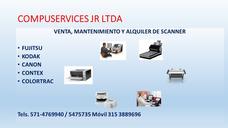 Alquiler De Scanner Fujitsu, Kodak Canon, Renta Scanner