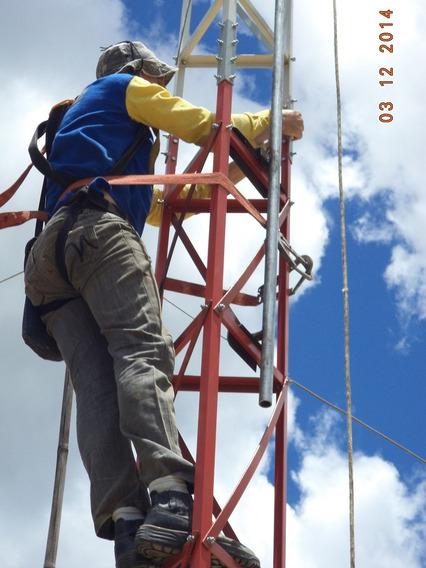 6 Metros De Torre Estaiada + 1 Base P/ Laje