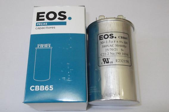 Capacitor Duplo 30+1,5 Uf (5%) Para Ar Split Lg 12000 Btus