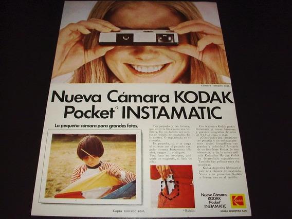 (pb081) Publicidad Clipping Camara Fotografica Kodak Pocket