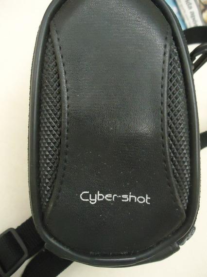 Bolsa Cyber Shot Couro Câmeras Divisórias Importada Ótima