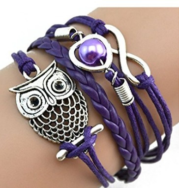 Bracelete Amor Infinito Roxo - Glam0062