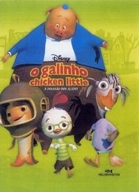 Livro:o Galinho Chicken Little Disney - A Invasão Dos Aliens