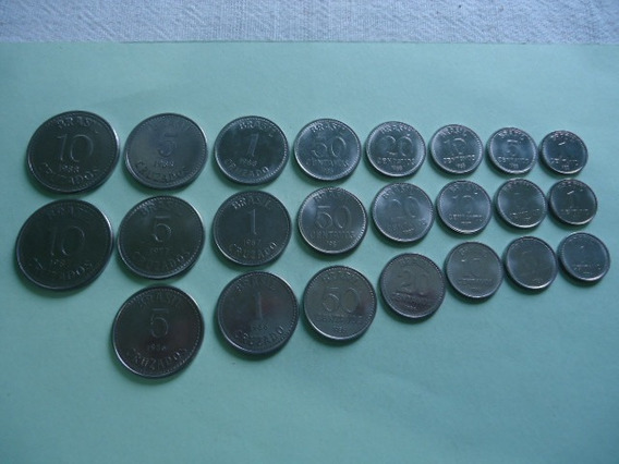 Moedas 1/5/10/20/50/1/5/10 1986 /1987/1988 Serie Completa