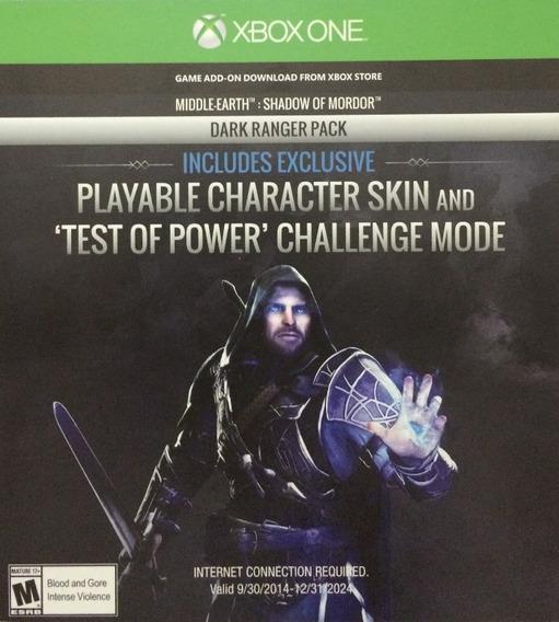 Dlc Shadow Of Mordor - Terra Media - Xbox One (não É Jogo Le