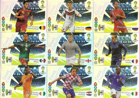 Lote 11 Cards Game Changer Adrenalyn Copa Mundo 2014
