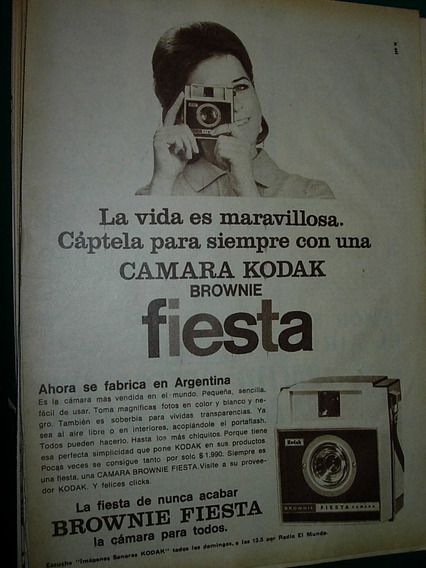 Publicidad Clipping Camara Fotografica Kodak Brownie Fiesta