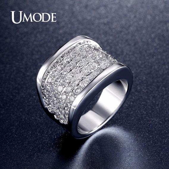 Anéis Para Mulheres Moda Jóias De Luxo Banhado A Ouro Branco