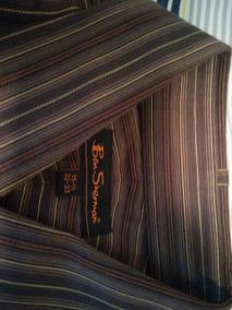 Camisa Fina Ben Sherman Talla M 15.5 32-33 Manga Larga