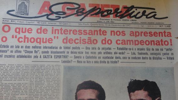 Jornal Antigo 1430 De 1947 Decisão São Paulo X Palmeiras