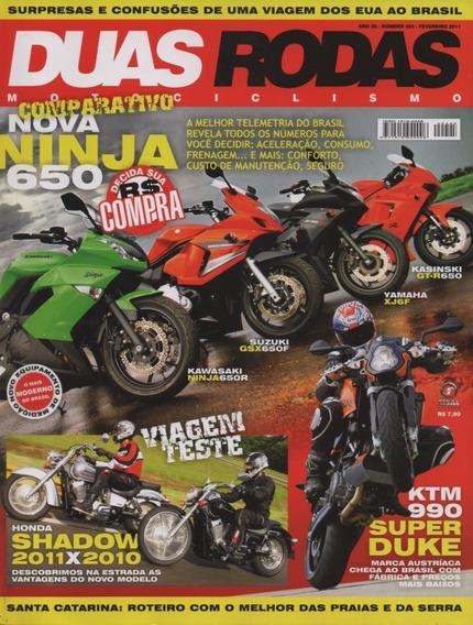 Duas Rodas N°425 Ninja 650r Suzuki Gsx 650f Yamaha Xj6f Gt-r