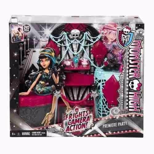 Monster High Monstros Câmera Ação Acessórios Tapete Negro