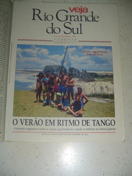 Caderno Veja Rio G. Do Sul Torres Ospa Carmelo Dossin 1992.