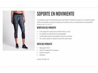 Originales Nike Calza Entrenamiento Mujer Nike Pro Hyper Xl