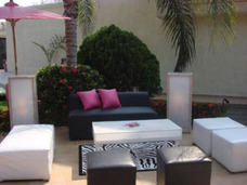 Alquiler De Puff,areas Lounge,mobiliario Y Decoracion .