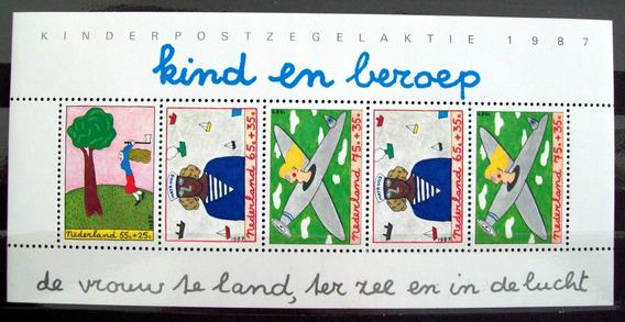 Holanda, Bloque Sc. B634a Ayuda Infantil 1987 Mint L5989
