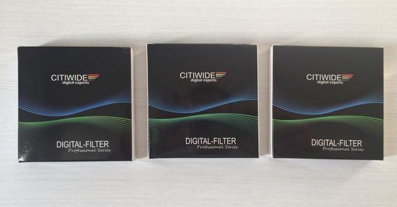 Kit C/ 3 Filtros Citiwide - Uv / Cpl / Graduated Blue