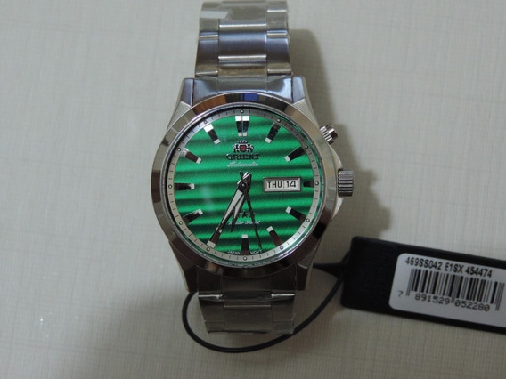 Relógio Orient Automático 469ss042 Visor Verde Luxuoso Lindo