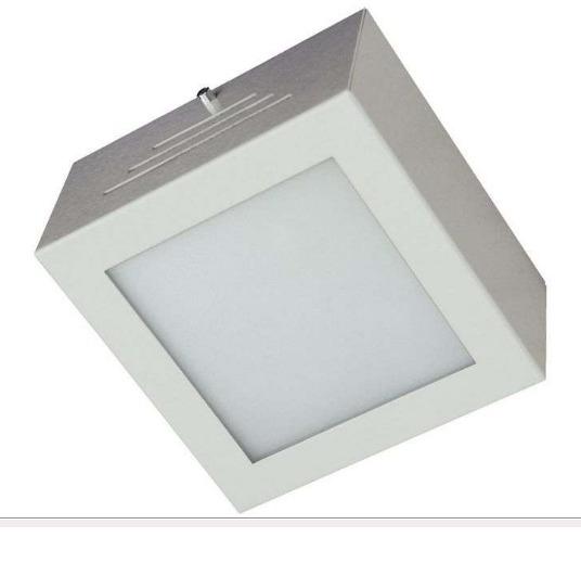 Lustre Plafon Evolut. Aluminio E Vidro Escovado Bivolt