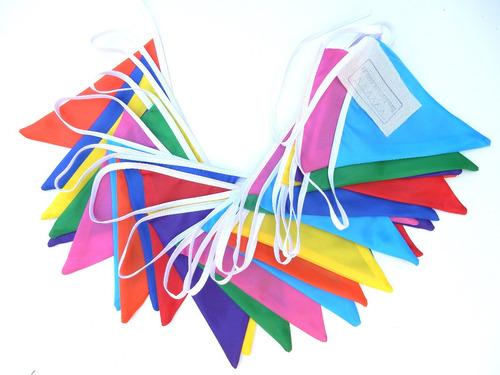 Imagen 1 de 4 de Banderines De Tela Colores 10 Metros