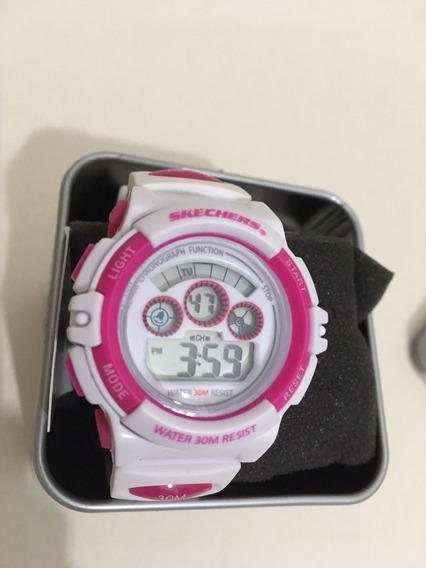 Relógio Skechers Original 33 Mm Diâmetro Pulseira Silicone