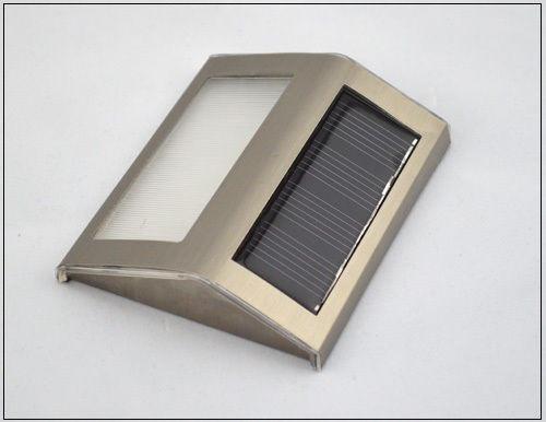 Lámpara Solar 2 Led, Para Escaleras, Jardín, Etc. X 2 Unidad
