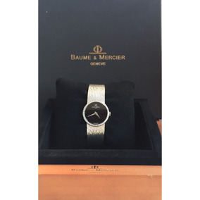 Baume & Mercier Classic Todo Ouro Branco Com Brilhantes !!!