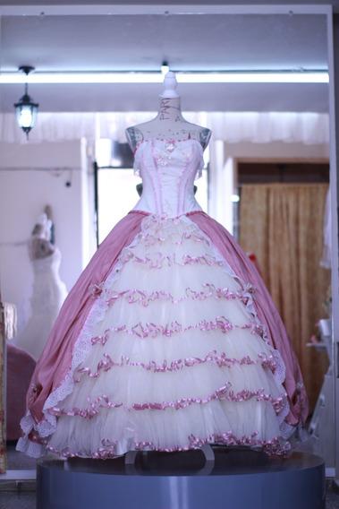 Vestido De Quinceañera Estilo Colonial Unico Barato