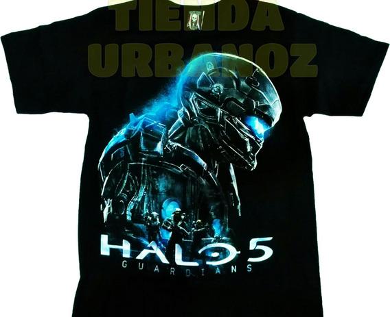 Camiseta Halo 5 Estampada Juego Gamer Tienda Urbanoz