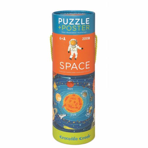 Puzzle Rompecabezas Espacio 200 Piezas + Poster Educando