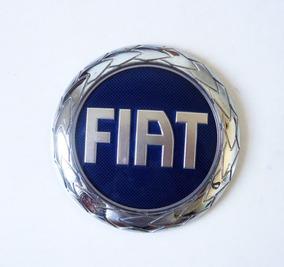 Emblema Adesivo Fiat Azul De Luxo Original