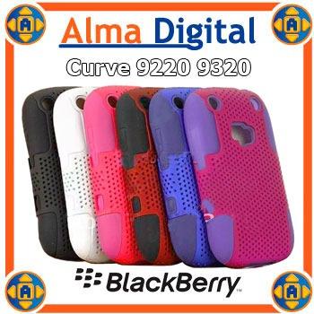 Forro Doble Perforado Blackberry 9220 9320 Curve Silicon
