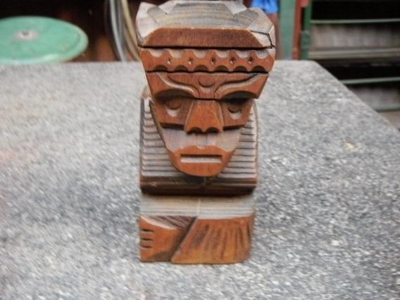 Tallado En Madera, Figura Cenicero