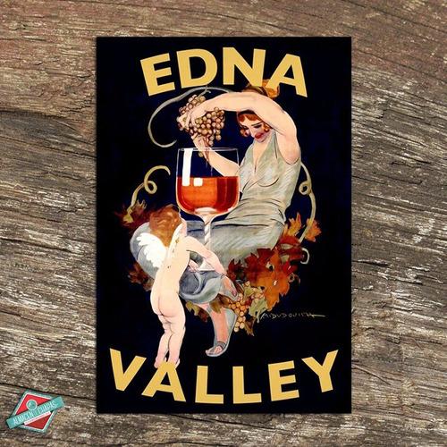 Cuadro De Chapa Retro Vintage - Vinos Edna - Oferta!!!