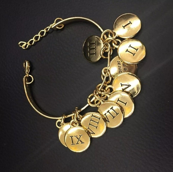 Pulseira Dez 10 Mandamentos Banhada A Ouro