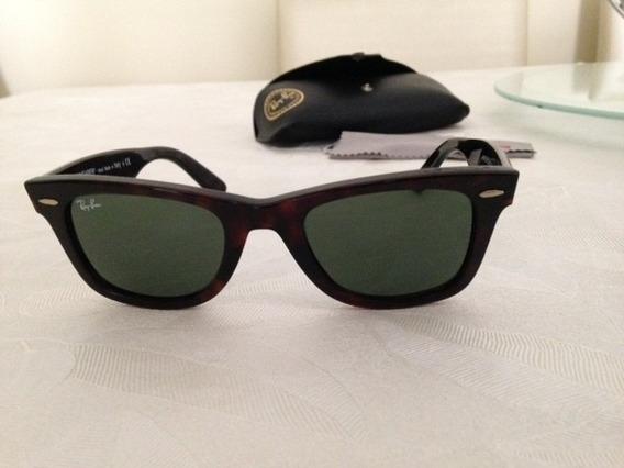 Óculos De Sol Rayban Warefarer Rb2140 Marrom Escuro Original