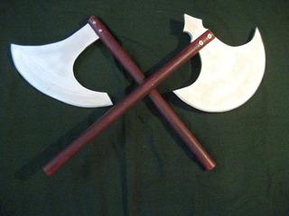 Hachas Para Disfraz Vikingo, Rol, Warhammer, Rey Arturo,