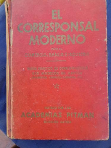 El Corresponsal Moderno - Academias Pitman 1965 Tapas Duras