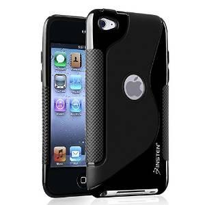Insten Duro Cubierta Del Negro Tpu Compatible Con iPod Touch
