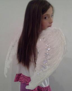 Alas De Angel Blanca Negra Grande De Plumas60x45cm Sin Envio